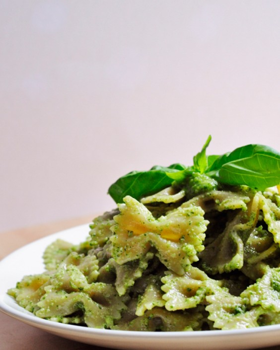Healthy Pasta Recipes: Vegan Cilantro Basil Pesto Pasta by Vegan Family Recipes