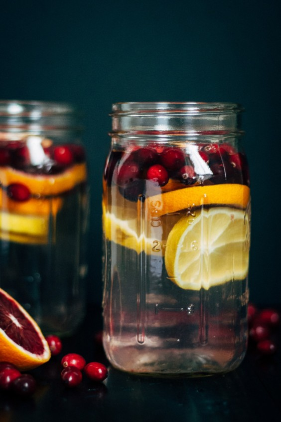 Fruit-Infused Water: Cranberry Orange Water