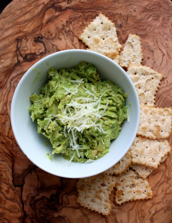 Grilled Guacamole With Parmesan and Basil Recipe