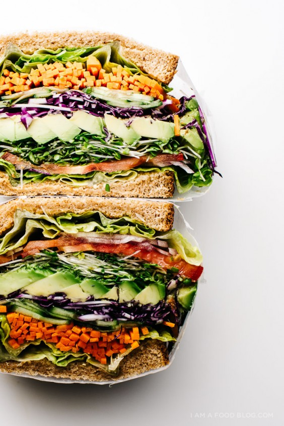 Picnic food ideas 21 recipes as healthy as they are tasty greatist picnic ultimate veggie sandwich forumfinder Images