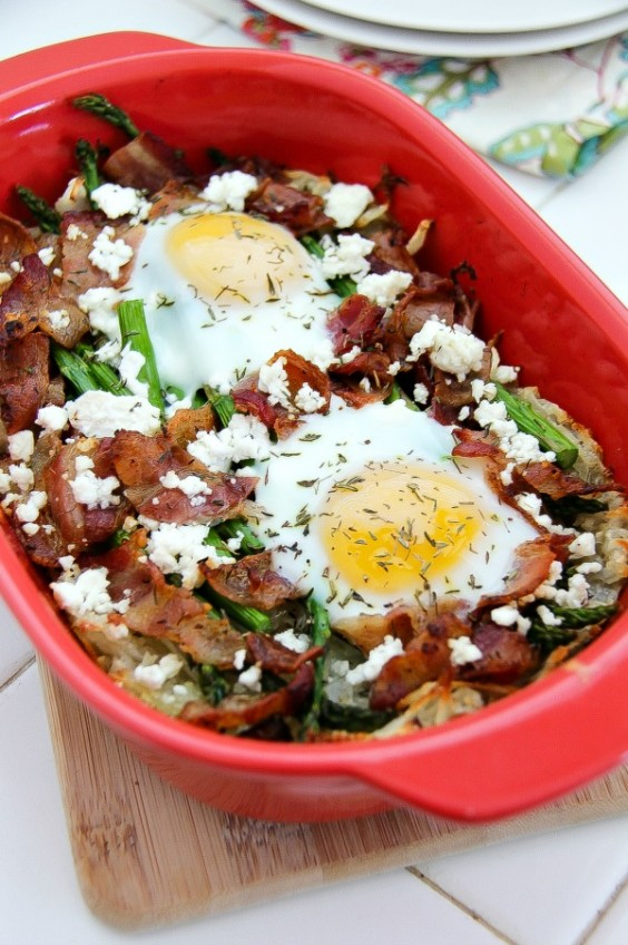 Healthy Breakfast Recipes: Hash Brown and Egg Breakfast Bake for Two