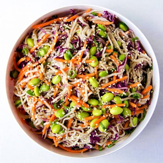 Asian Salad Recipe: Rainbow Soba Noodle Salad