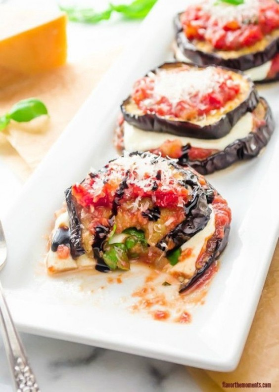 Detox Recipes: Grilled Eggplant Stacks