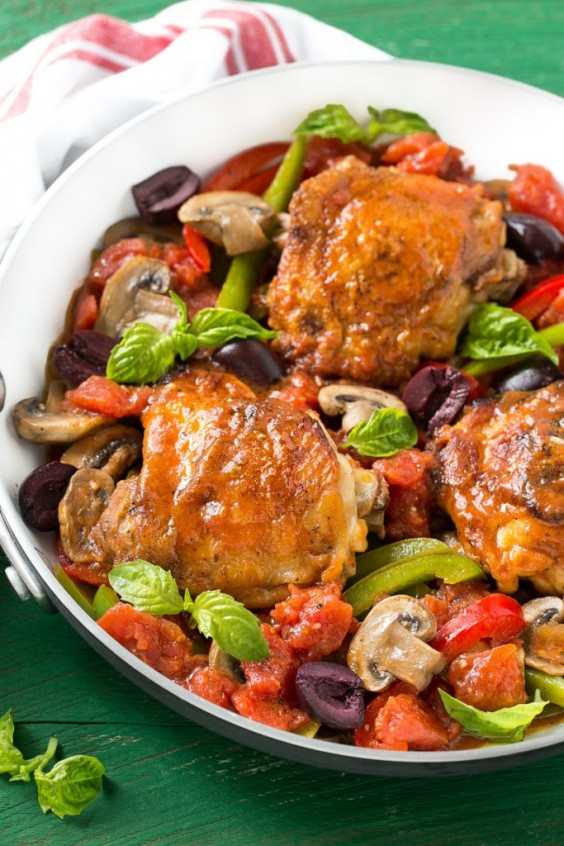One Pot Meals: Italian Chicken Cacciatore