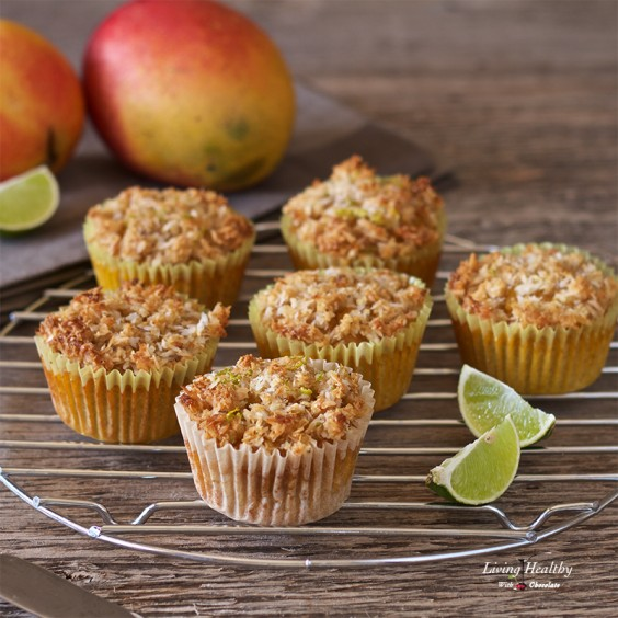 4. Mango Muffins With Coconut-Lime Streusel (Paleo, Gluten-Free)