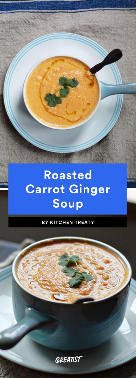 5 Ingredient Soup: Carrot Ginger