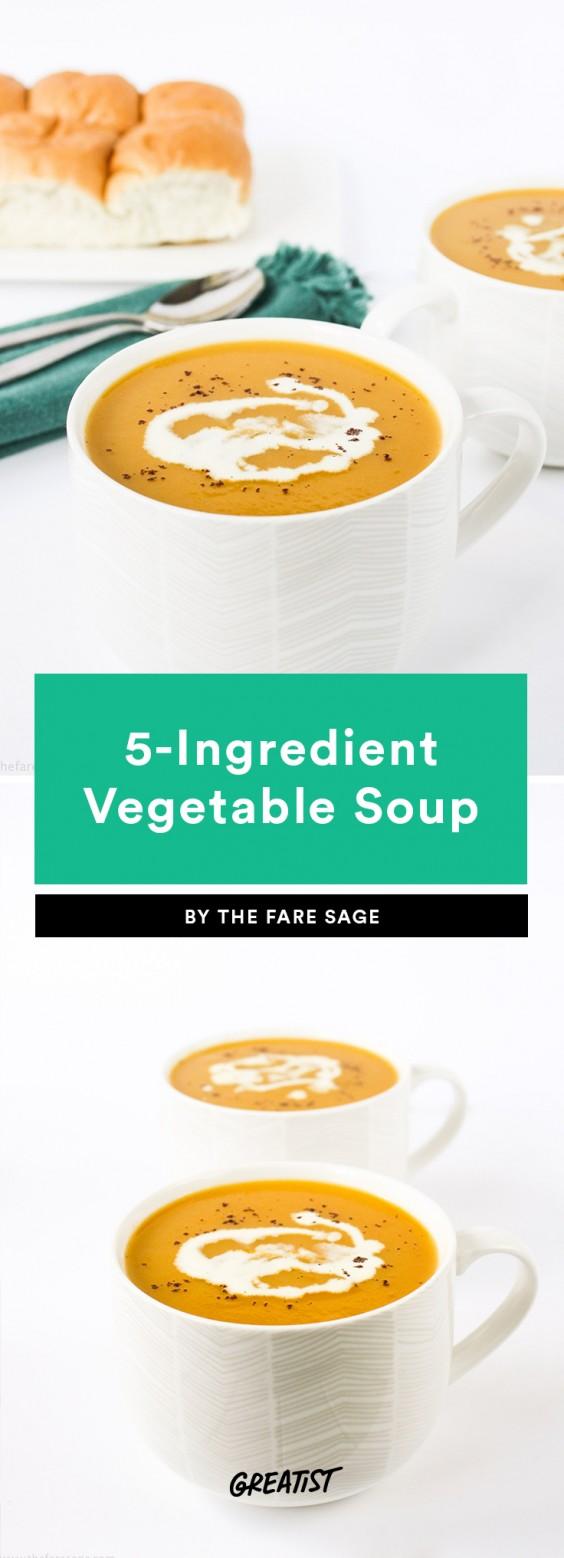 5 Ingredient Soup: Vegetable