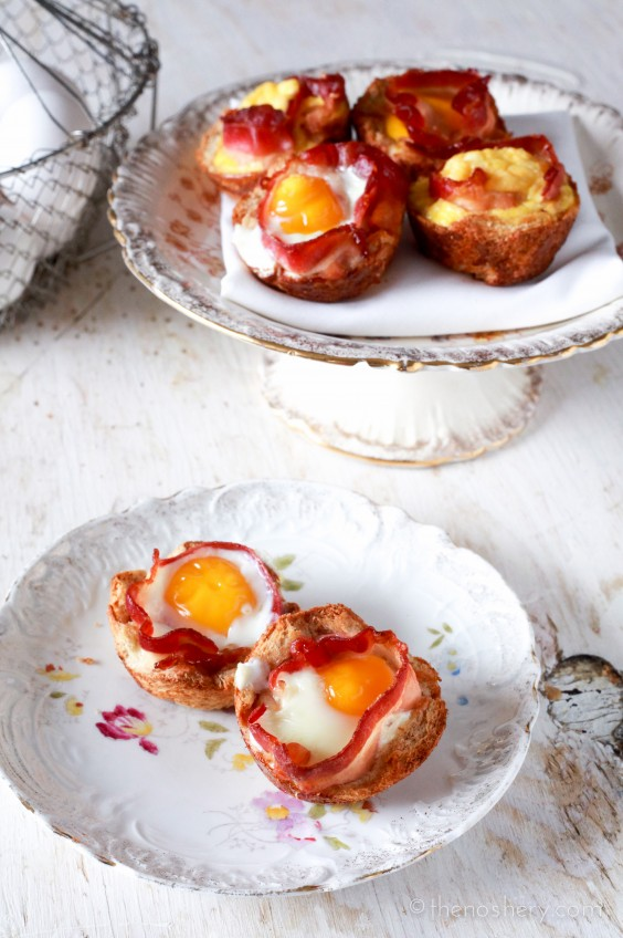 Bacon + Egg Toast Cups