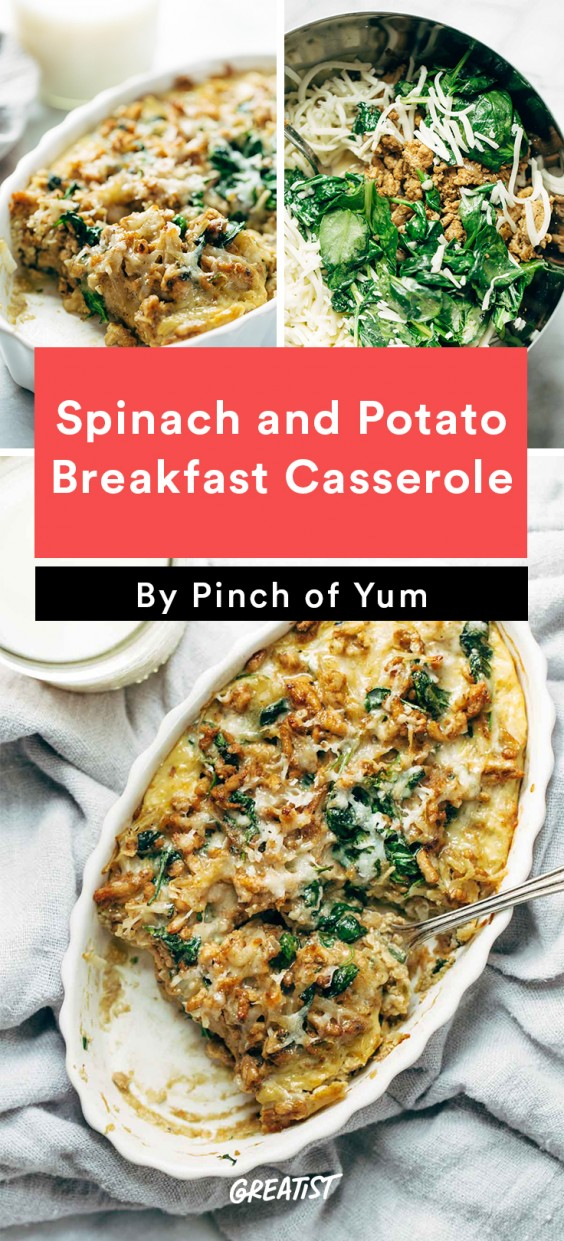 Breakfast for Dinner Recipes: Spinach and Potato Breakfast Casserole