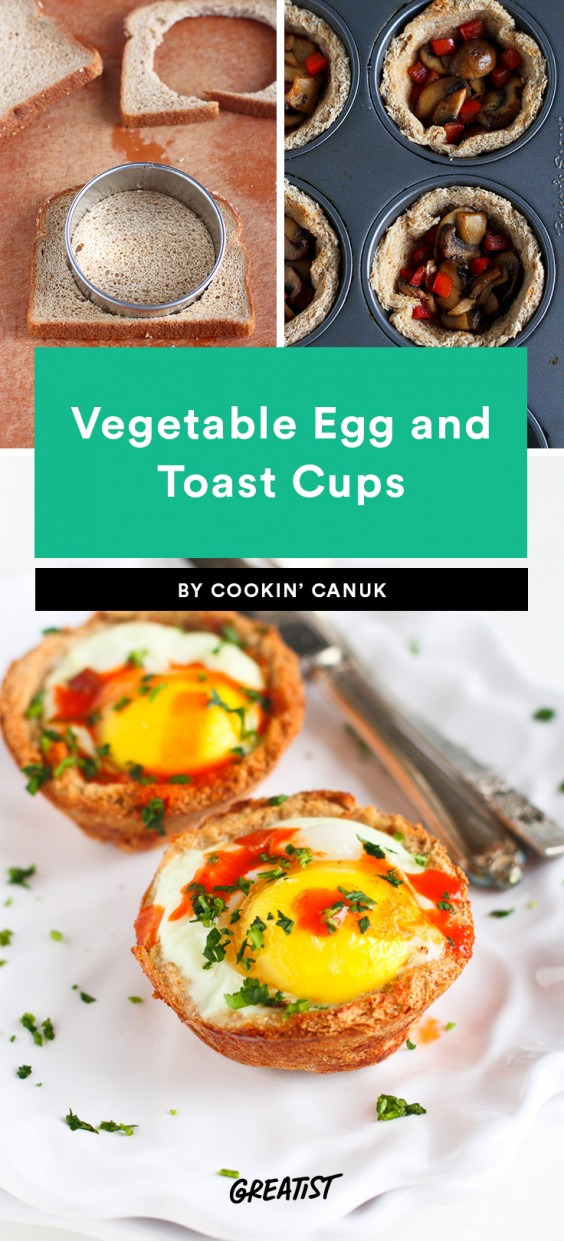 Vegetable Egg and Toast Cups