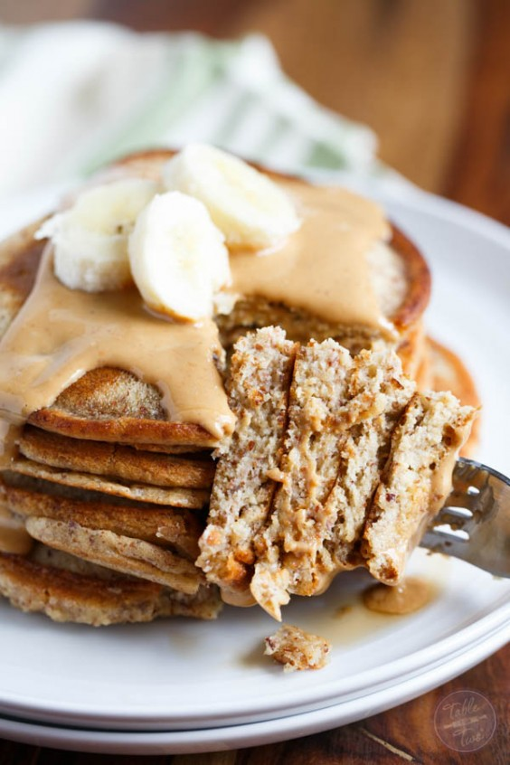 Healthy Breakfast Recipes: Paleo Cashew Butter Pancakes for Two