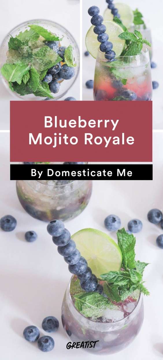 Blueberry Mojito Royale Recipe