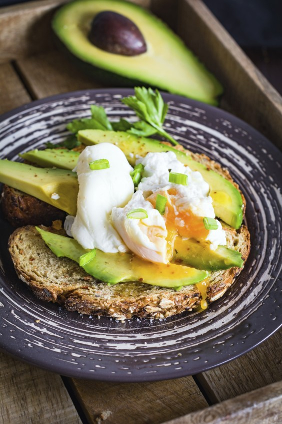 poached eggs and avocado