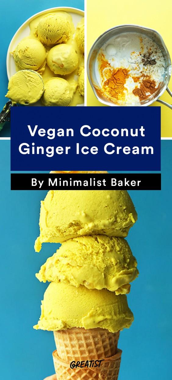 Vegan Coconut Ginger Ice Cream