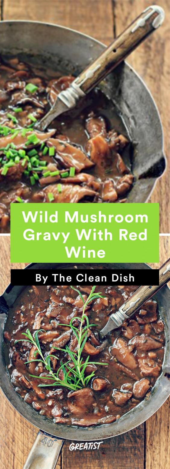 gluten free thanksgiving: Wild Mushroom Gravy