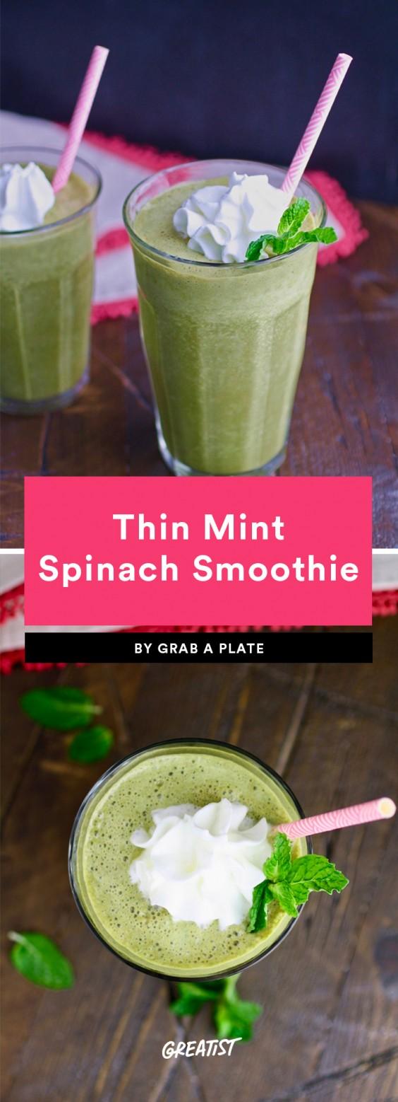 Thin Mint Spinach Smootie