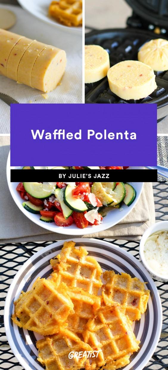 Waffled Polenta