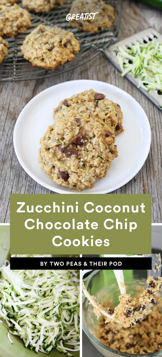Zucchini Coconut Chocolate Chip Cookies
