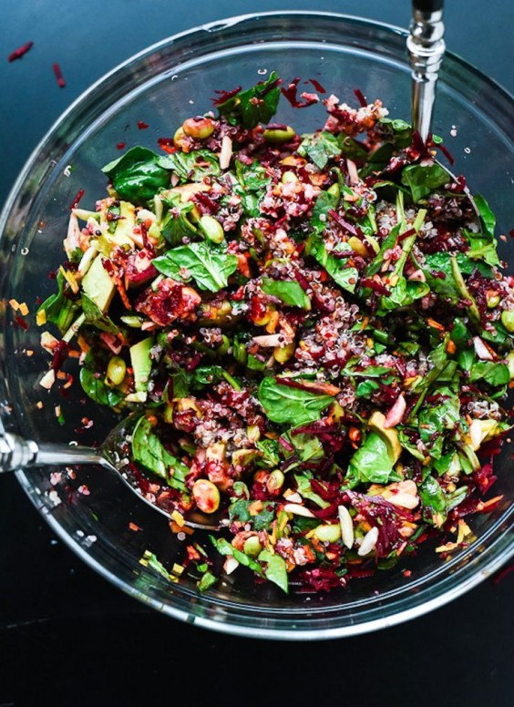 Carrot Quinoa and Spinach Beet Salad Recipe