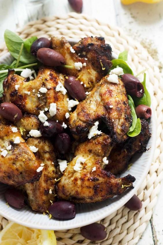 Greek Baked Chicken Wings