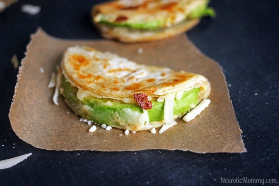 Vegetarian Recipes: Avocado and Hummus Quesadillas by Neurotic Mommy