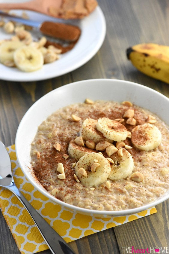 One Pot Meals: Peanut Butter Banana Oatmeal