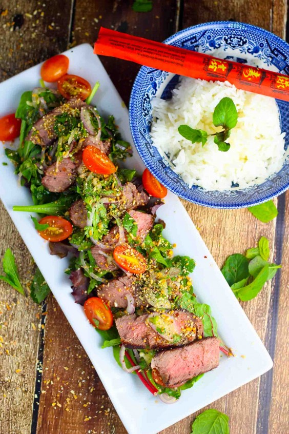 Asian Salad Recipe: Thai Beef Salad