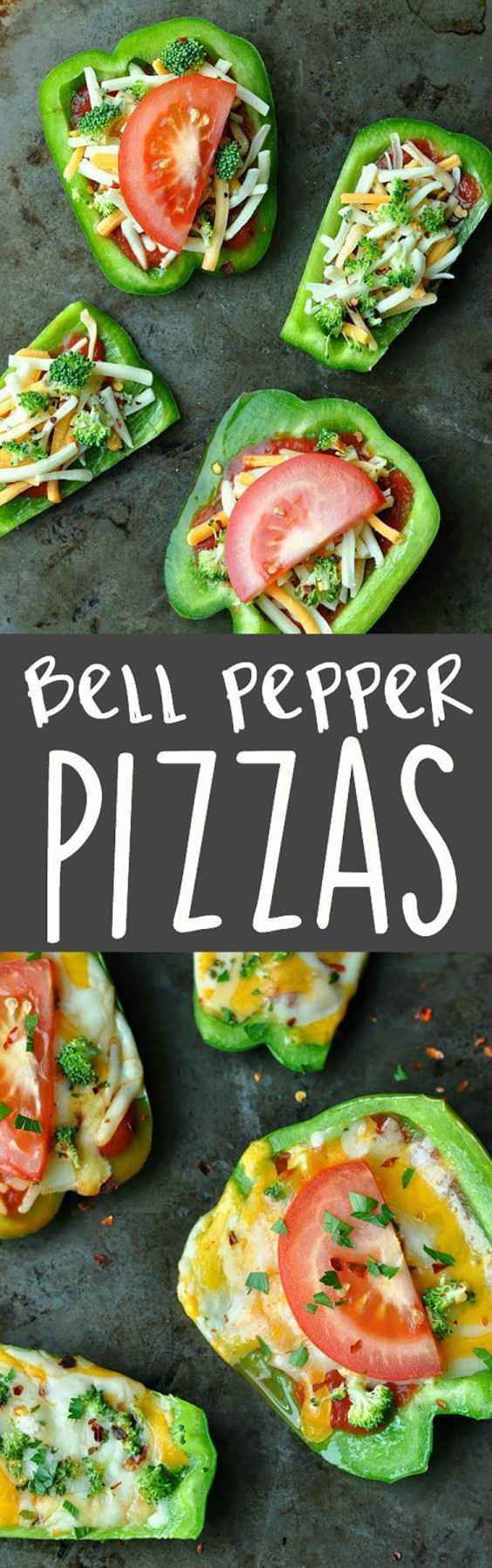 Healthy Lunch Ideas: Bell Pepper Pizzas