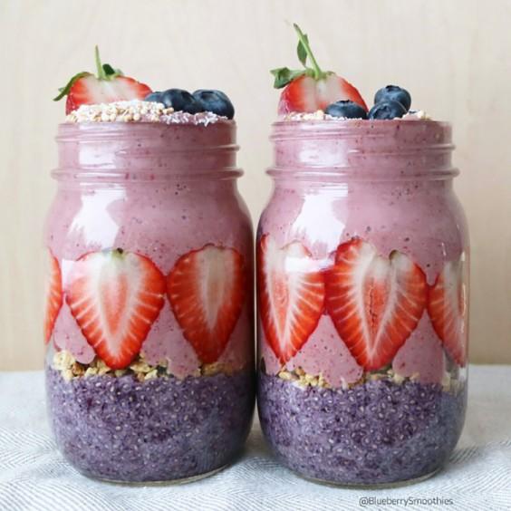 Healthy Breakfast Recipes: Berry Jars