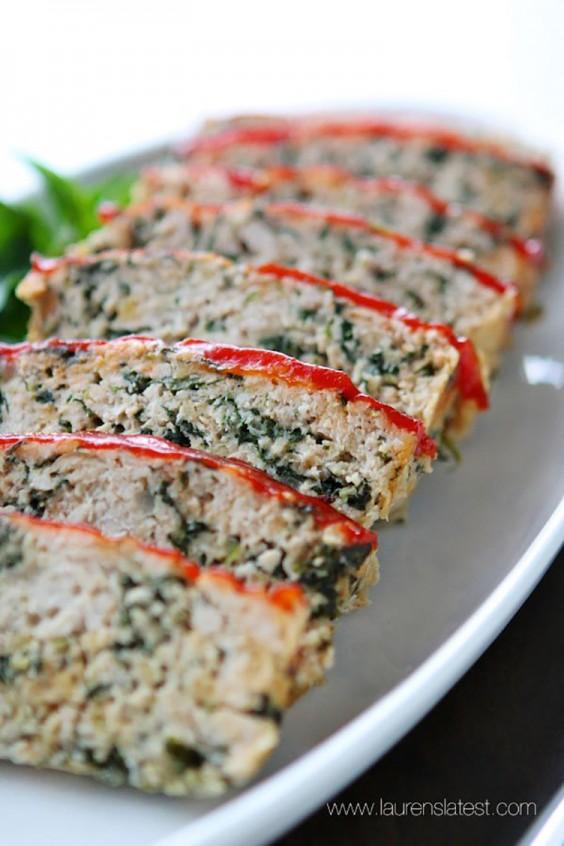 Low-Carb Recipes: Turkey Meatloaf Florentine