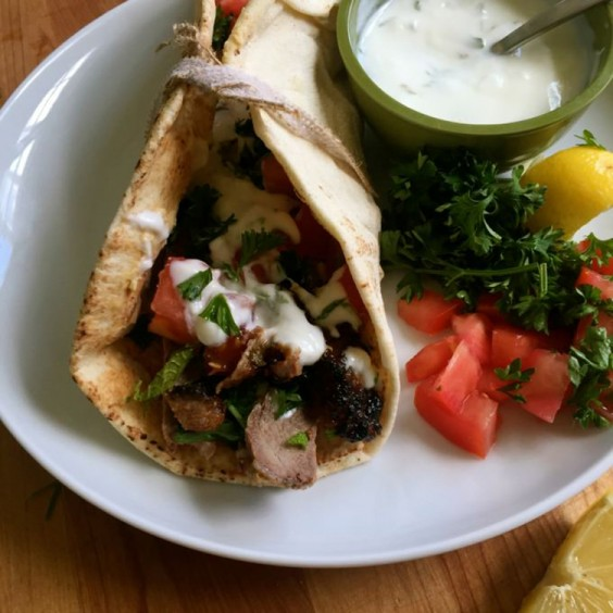 Lunch Ideas: Mediterranean Steak Pita Wraps with Mint Yogurt Sauce
