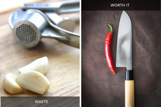 Garlic Press vs Chefs Knife