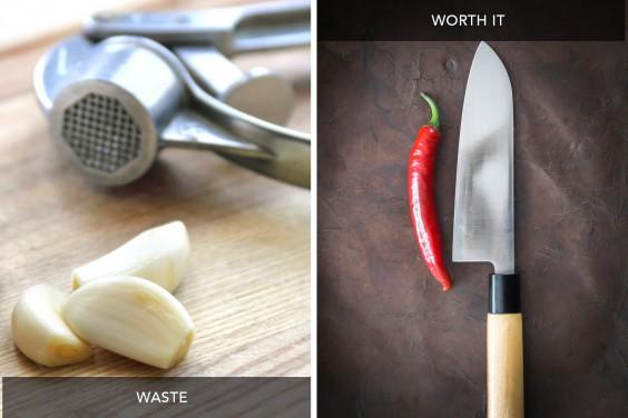Garlic Press vs Chefs Knife