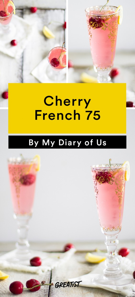 Cherry French 75 Recipe