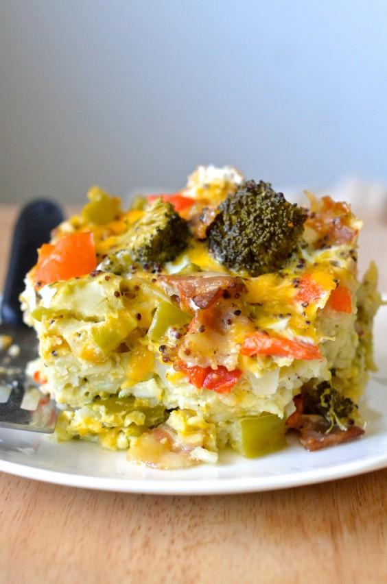Healthy Crock-Pot Breakfast Casserole