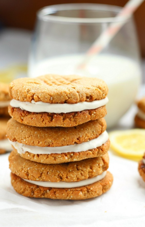 paleo lemon coconut sandwich cookies