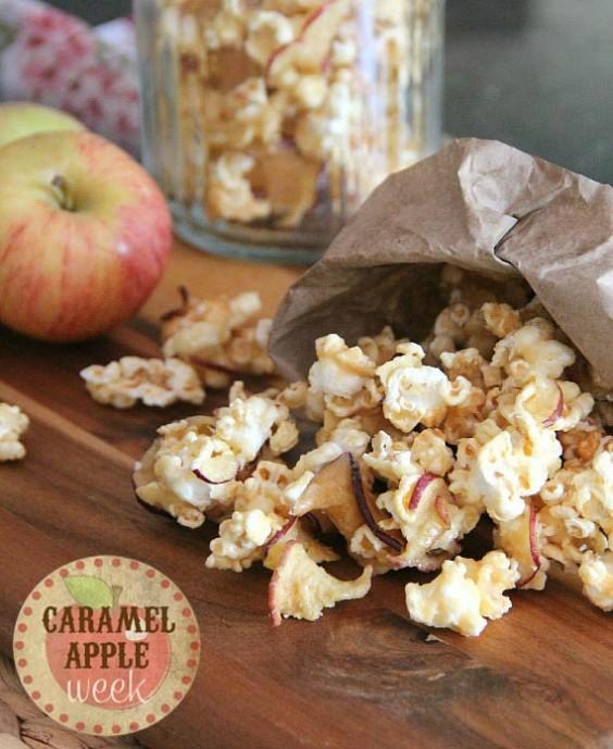 7. Caramel Apple Popcorn