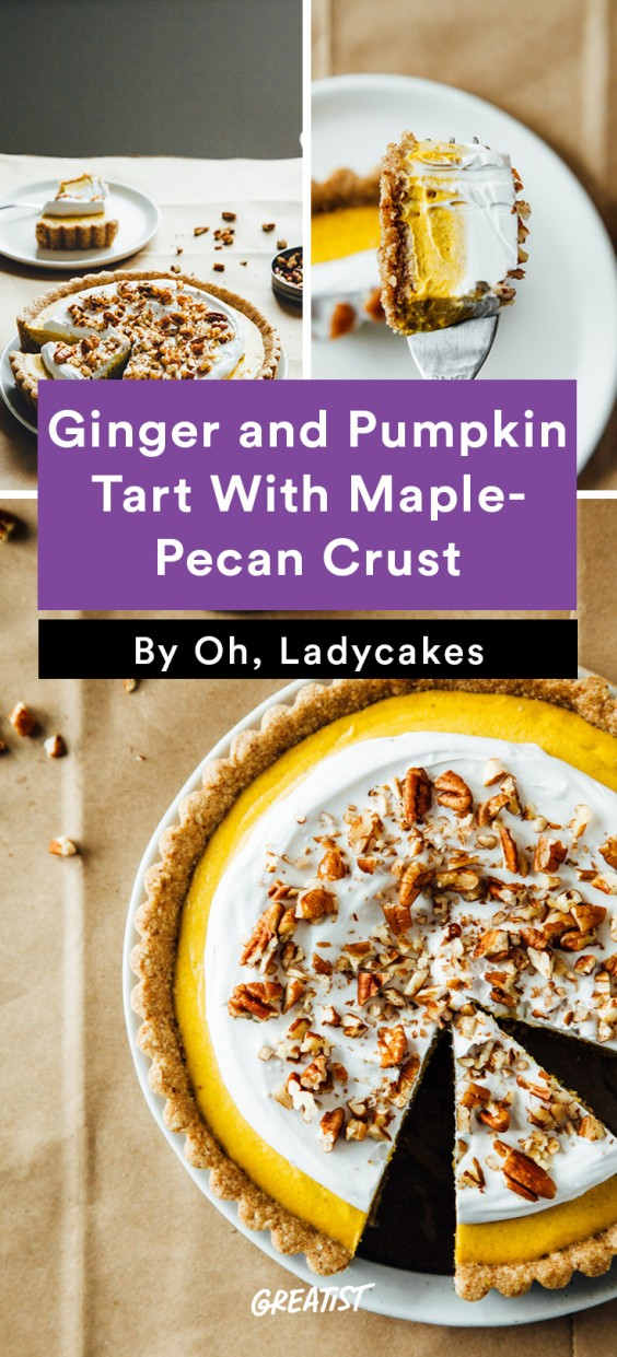 gluten free thanksgiving: Ginger and Pumpkin Tart