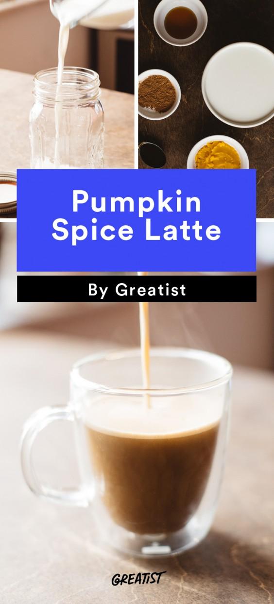 At Home Starbucks Recipes: Pumpkin Spice Latte