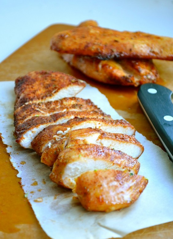 Chicken breast recipes 60 ways to spice up boring poultry greatist brown sugar spiced baked chicken ccuart Choice Image
