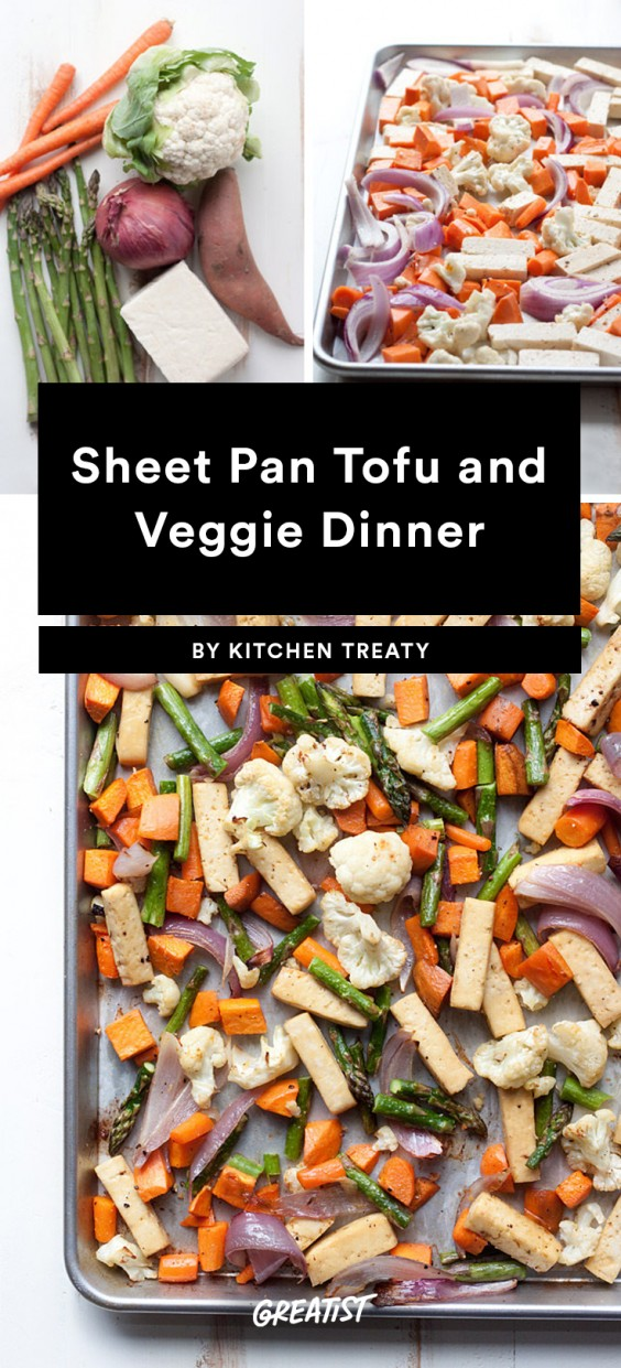 Sheet Pan Tofu and Veggie Dinner