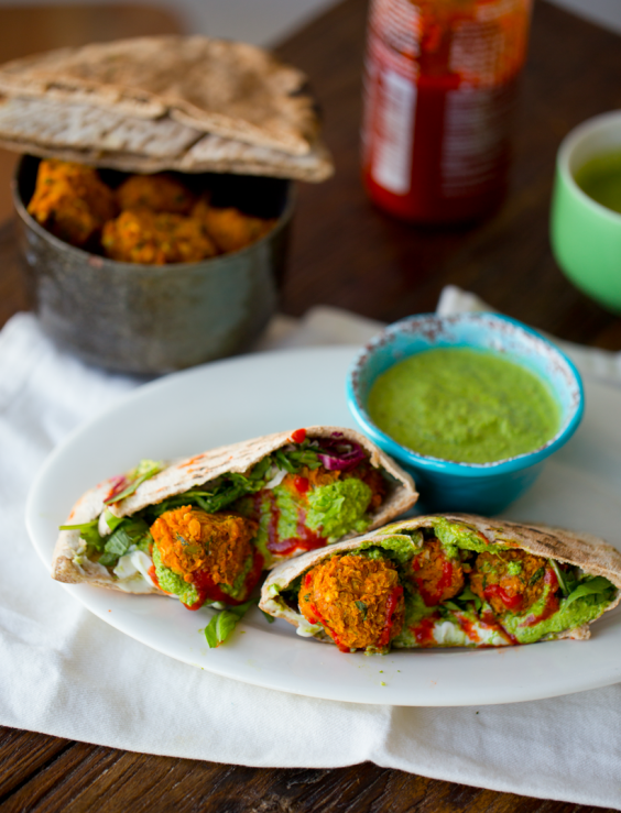 Dinner Recipes: Sweet Potato Falafel Chimichurri