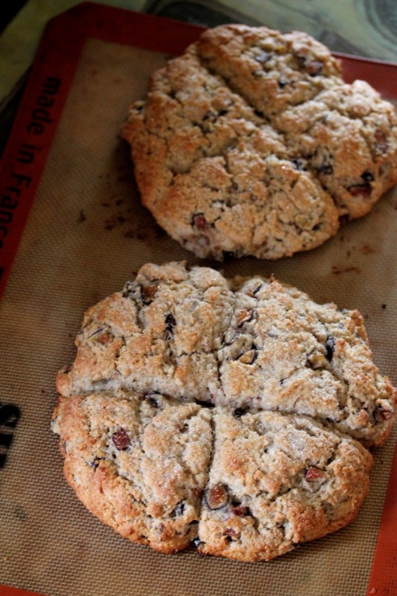 Vegan Fig and Chocolate Chip Scones