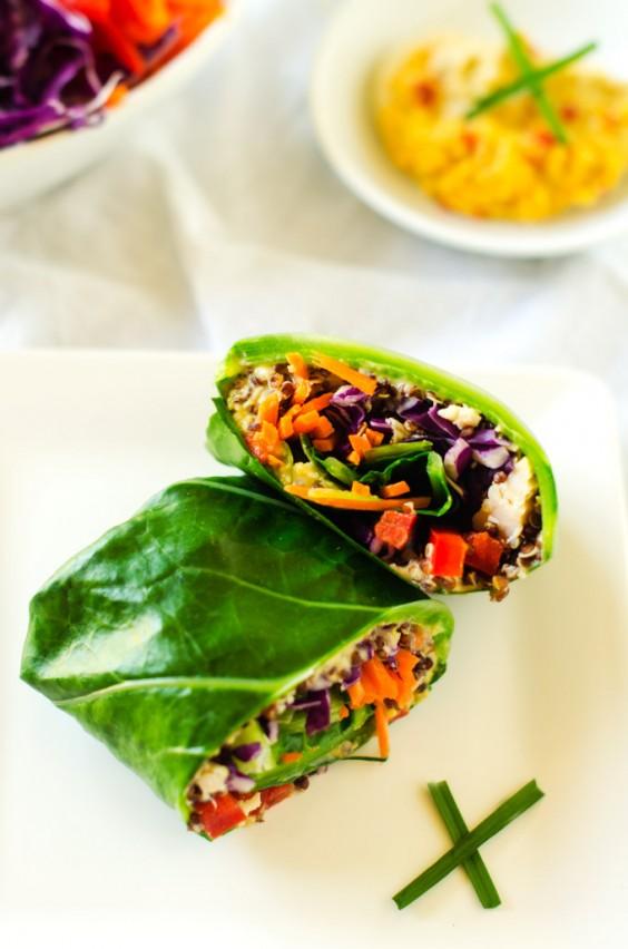 Greens Recipe: Chicken Quinoa Collard Wraps
