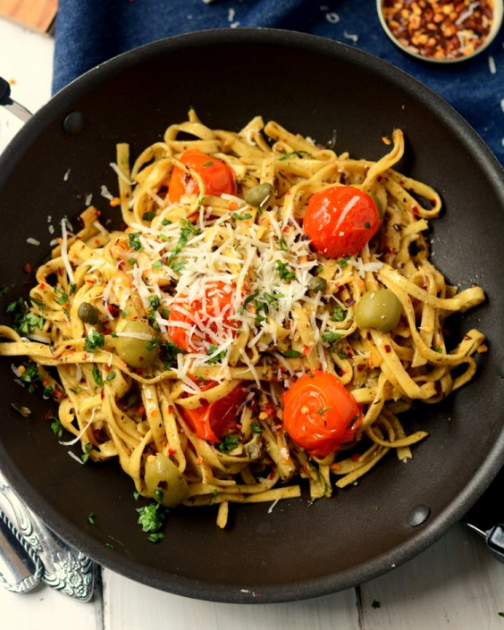 Healthy Dinner Recipes for Beginners: Pasta Arrabiata by Yummily Yours