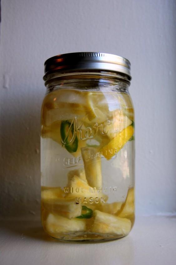 Fruit-Infused Water: Pineapple Jalapeño Lemon Water