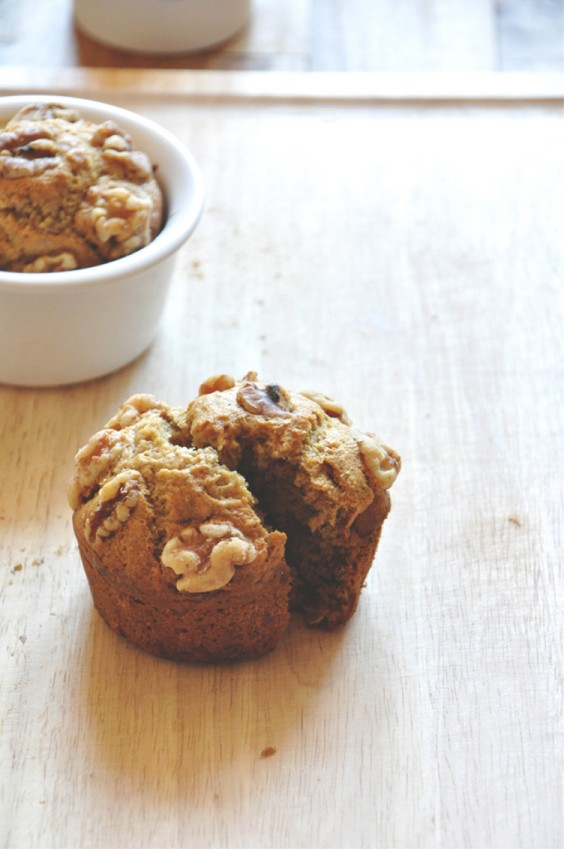 Healthy Breakfast Recipes: Vegan Banana Nut Muffins for Two