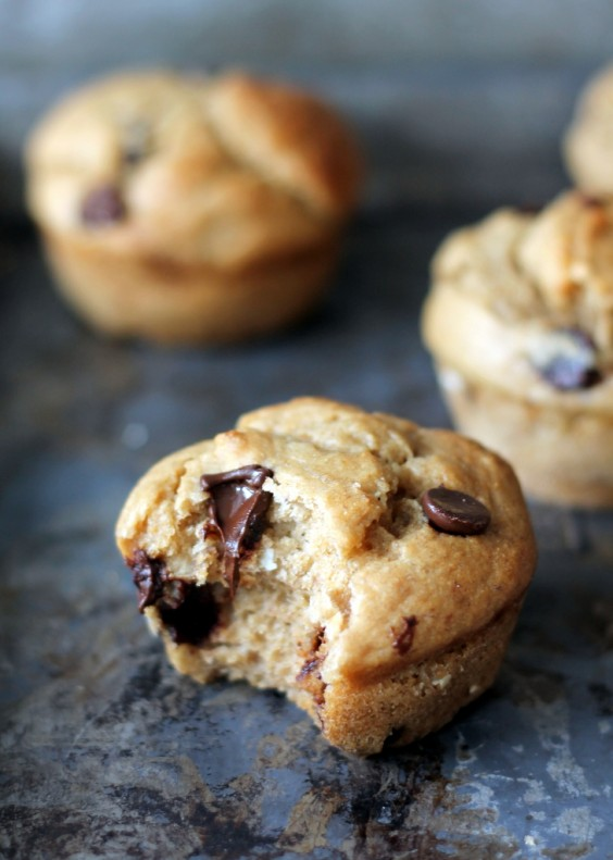 7. Skinny Banana Chocolate Chip Muffins