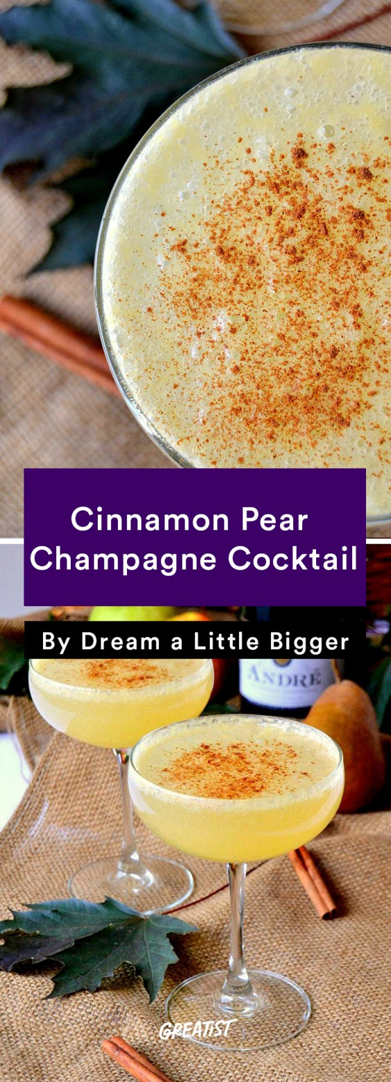 Cinnamon Pear Champagne Cocktail Recipe