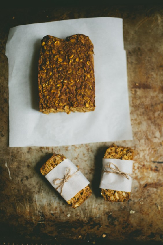 soft pumpkin granola bars